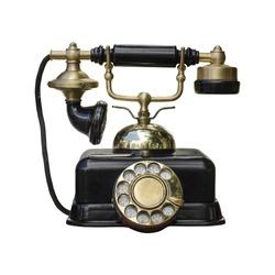 vintage telephone isolated on white