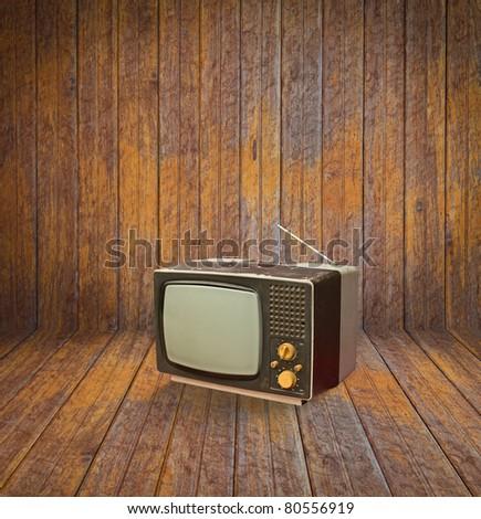 Vintage television in room #80556919