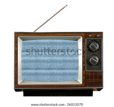 Vintage television without signal producing electronic snow