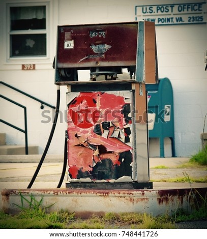 vintage texaco gas pump in...