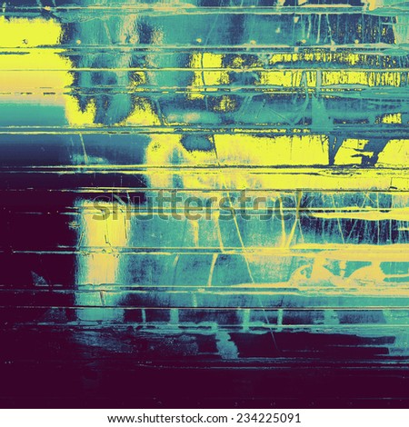 Vintage texture with space for text or image, grunge background. With different color patterns: blue; yellow