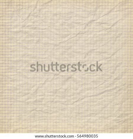 Vintage Textured Background with crumpled paper grid pattern #564980035