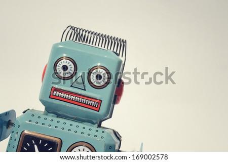 vintage tin toy robot