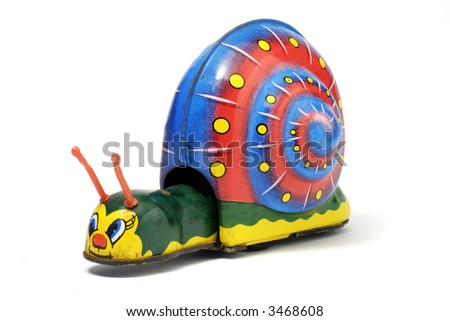 vintage tin toy snail