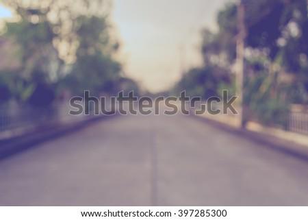 vintage tone image of blur...