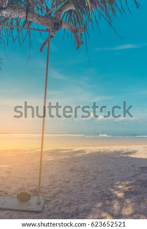 vintage tone image of coconut...