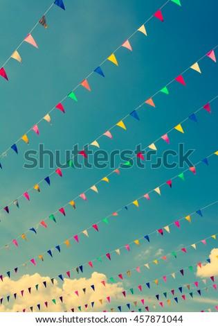 vintage tone image of festival...