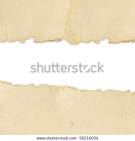 vintage torn paper with copyspace for your text