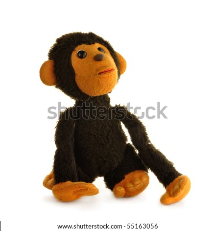 vintage toy   monkey  isolated...