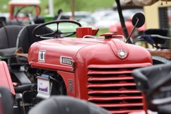 Vintage tractor meeting in Sankt Konrad (Gmunden district, Upper Austria) - Every summer, well over 100 old tractors can be admired here.
