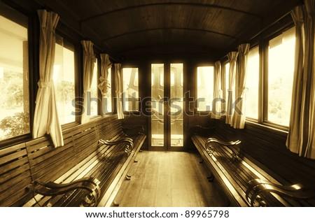 Vintage Train Salon Inside
