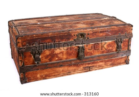 Vintage trunk. Contains clipping path.