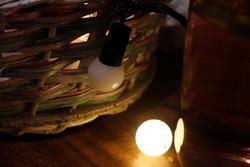 vintage tumblr led lights with basket