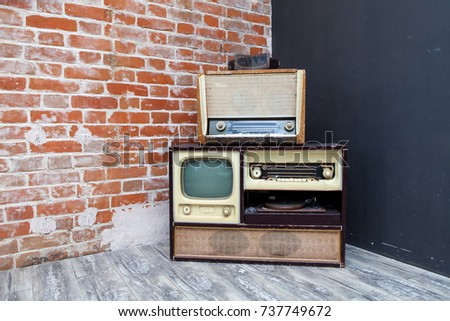 vintage TV and radio  #737749672