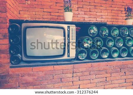 vintage TV. Illustration of the good old retro TV