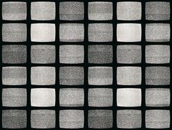 Vintage TV screen photo pattern