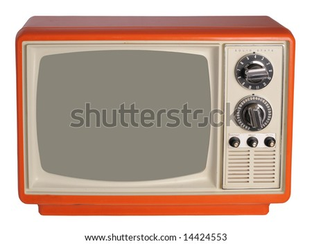 Vintage TV set - stock photo