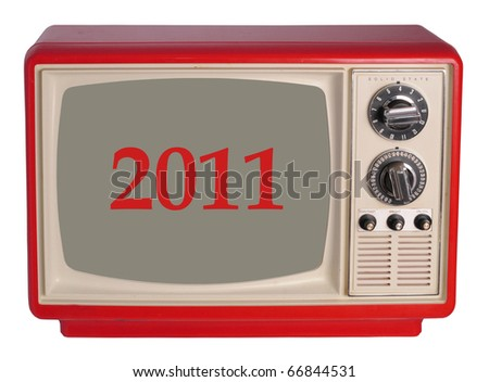 Vintage TV set with a 2011 year