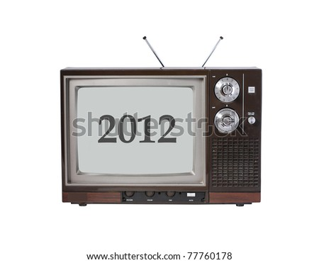 vintage TV set with year 2012