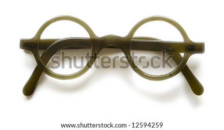 Vintage type spectacles isolated at white