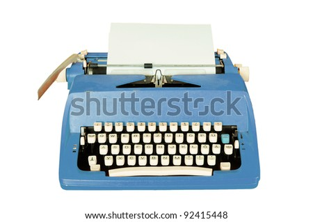Vintage typewriter isolated