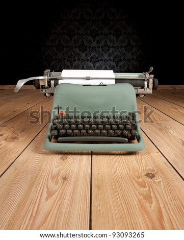 vintage typewriter on an ancient background