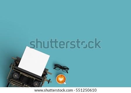vintage typewriter paper and...