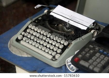 Vintage Typewriter with Hebrew Keys