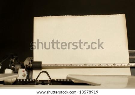 Vintage typewriter with paper  Vintage Typewriter Paper Photography
