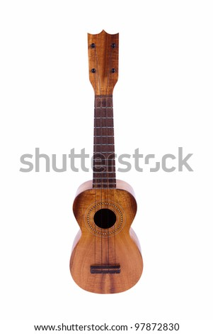 Vintage Ukulele isolated on white