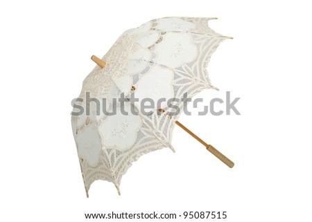 vintage umbrella isolated on...