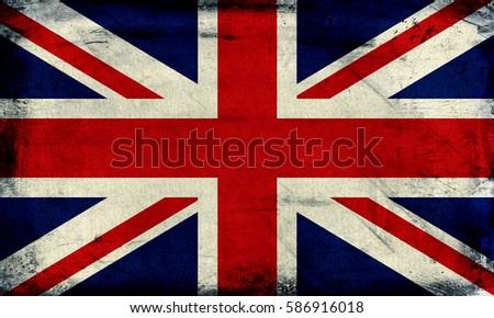 Vintage United Kingdom flag background