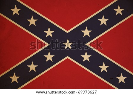 Vintage United States Confederate flag background.