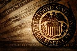 Vintage US dollar. Federal reserve system.