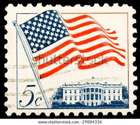 Vintage postage stamp idol
