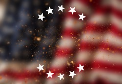 Vintage USA flag background. Ready for montage. USA national holidays concept.