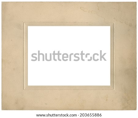 Vintage used photo frame - circa 1910 - perfect in detail - isolated on white
