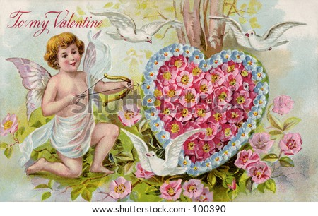 Vintage Valentine illustration (circa 1910)