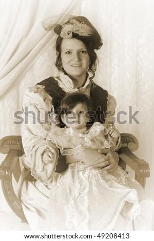 vintage victorian portrait of a ...