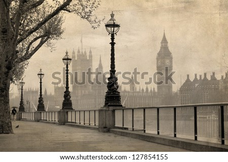 vintage view of london   big...