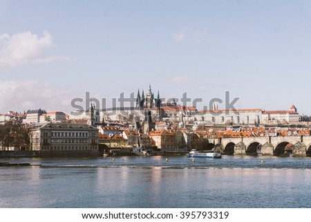 vintage view of the prague