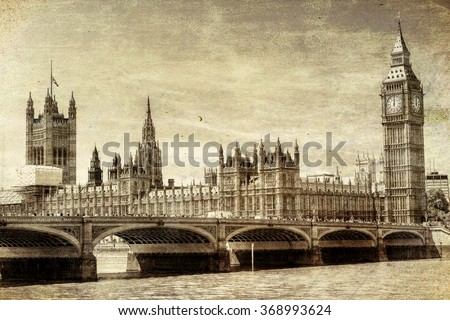 vintage view of westminster...