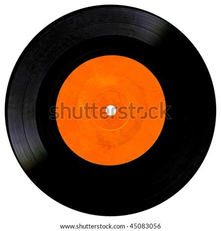 Vintage vinyl record isolated on white