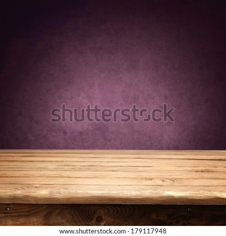 vintage wall of red and desk