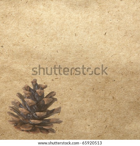 vintage wallpaper background with cone - stock photo