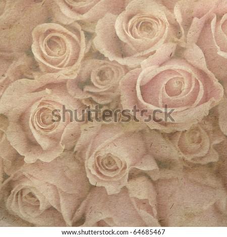 vintage wallpaper background with rose
