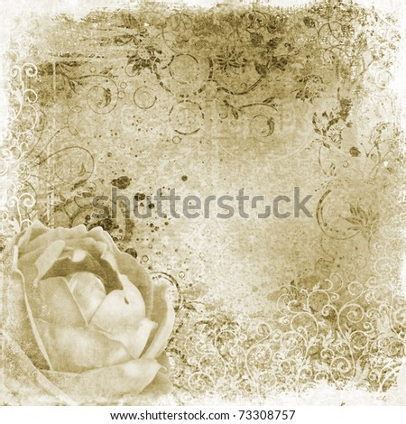 stock photo vintage wallpaper background with rose