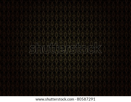 Vintage Wallpaper - Golden Ornaments on Black Background