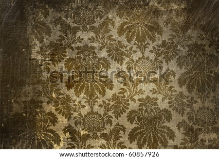 Vintage wallpaper with a grunge affect