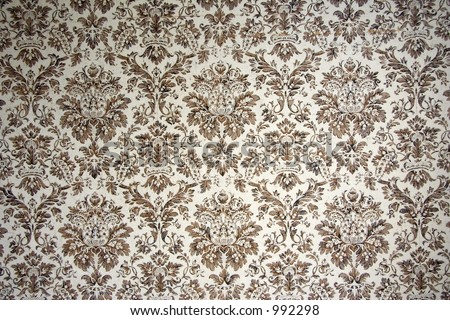 Vintage Wallpaper on Vintage Wallpaper   With Brown Ornaments Stock Photo 992298